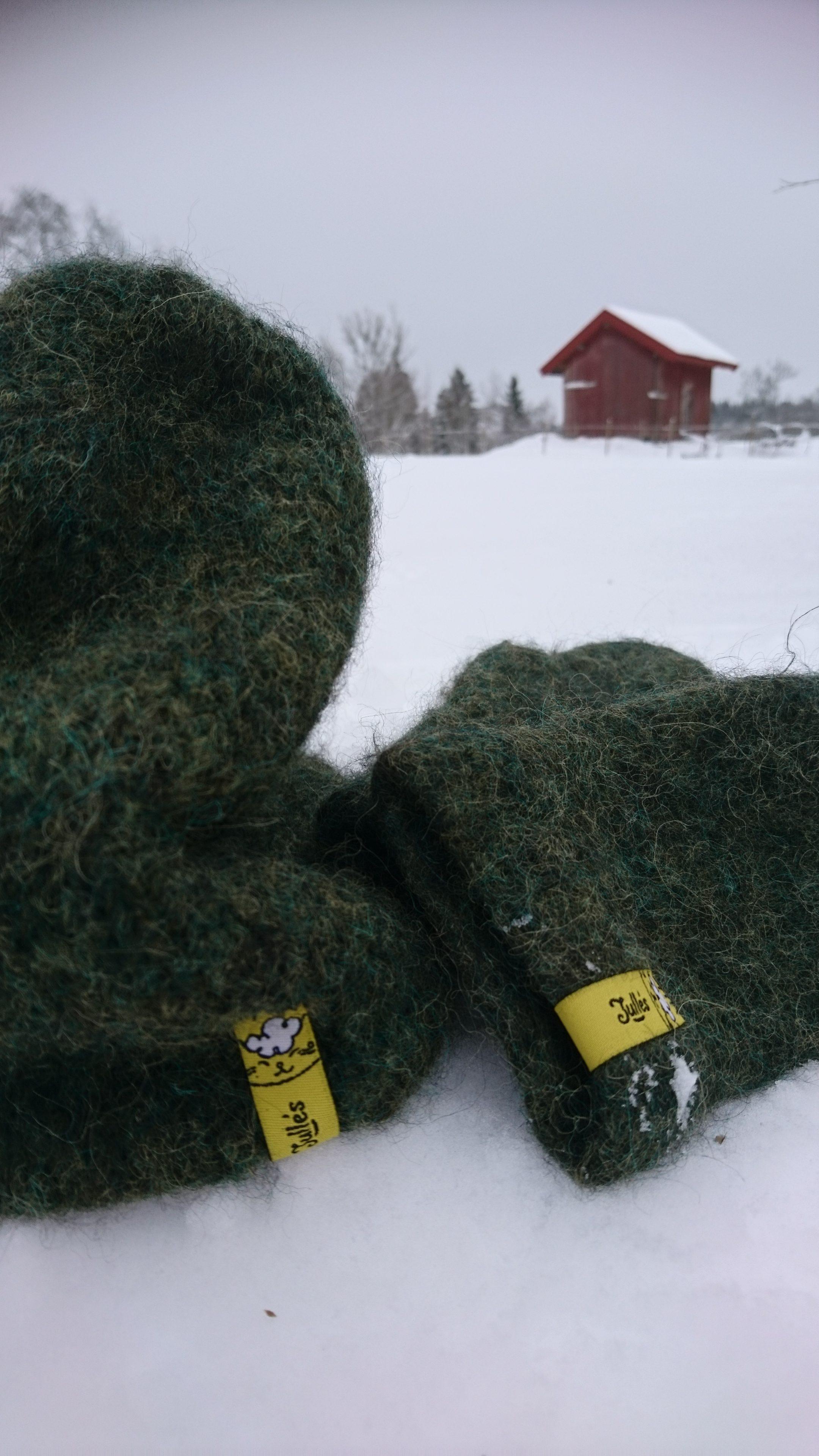 Kläder för vinterväder, ull så klart!